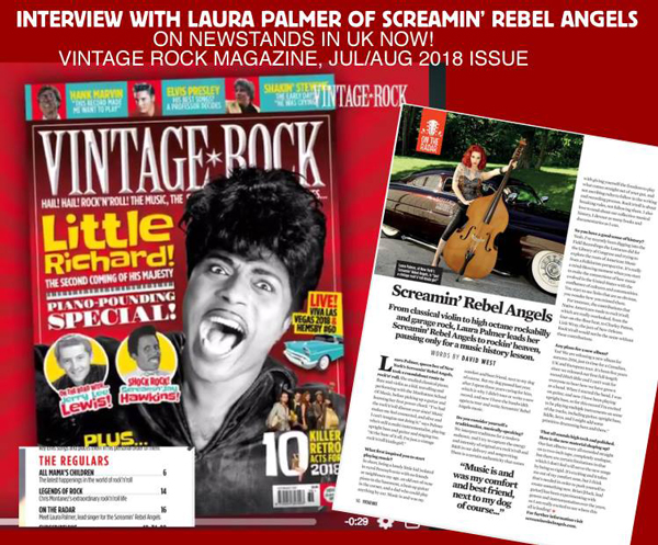 Screamin' Rebel Angels in Vintage Rock Magazine