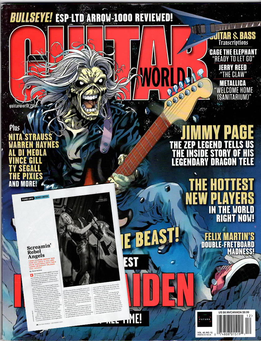 Screamin' Rebel Angels in Guitar World! The Hottest New Players in the World Right Now